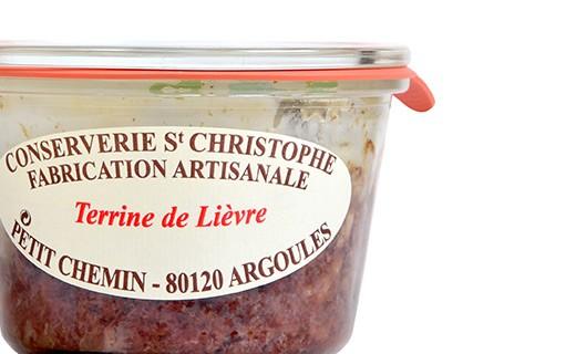 Terrine de lièvre - Conserverie Saint-Christophe