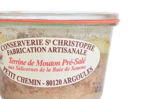 Terrine de mouton de pré-salé salicorne - Conserverie Saint-Christophe