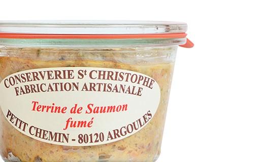 Terrine de saumon fumé - Conserverie Saint-Christophe