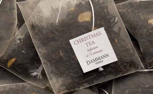 Thé Christmas Tea Rouge - sachet cristal - Dammann Frères