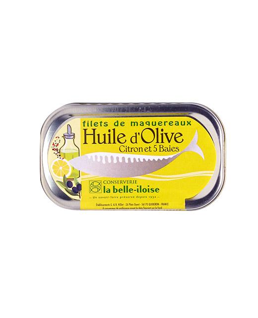 Filets de maquereaux à l´huile d´olive, citron et aux 5 baies - La Belle-Iloise. Des filets de maquereaux travaillés selon l