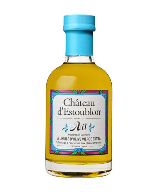 Huile d´olive aromatisée à l´ail - Château d´Estoublon. Une huile d´olive aromatisée à l&acu
