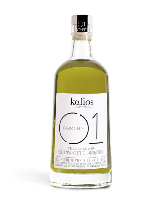 Huile d´olive vierge extra - Caractère - Kalios. Une huile d´olive au goût intense avec une légère note poivr&e