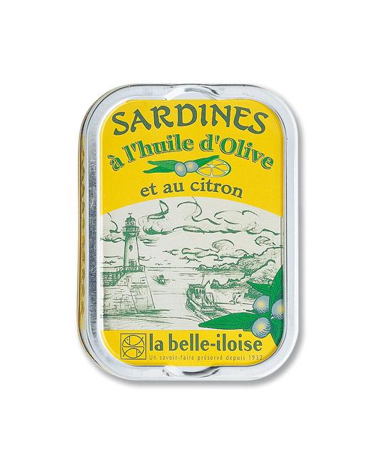 Sardines à l?huile d?olive et au citron - La Belle-Iloise. Un grand classique.