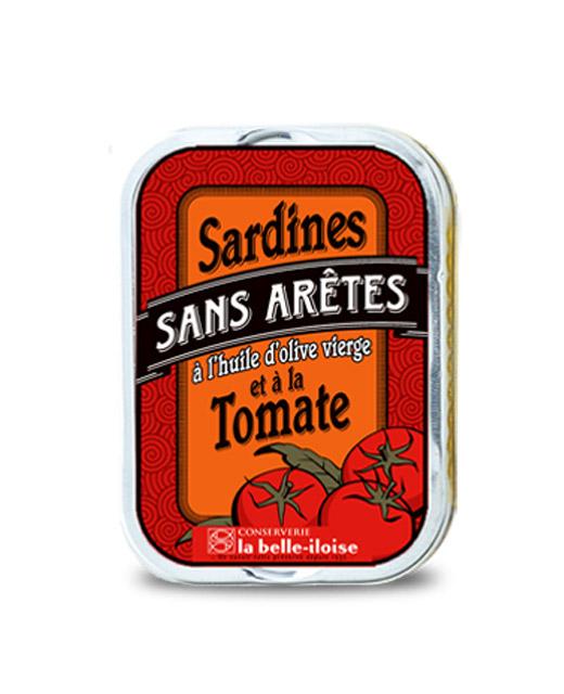 Sardines sans arêtes à l?huile d?olive et à la tomate - La Belle-Iloise. Une recette sans arêtes.