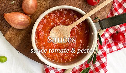 sauce tomate pesto