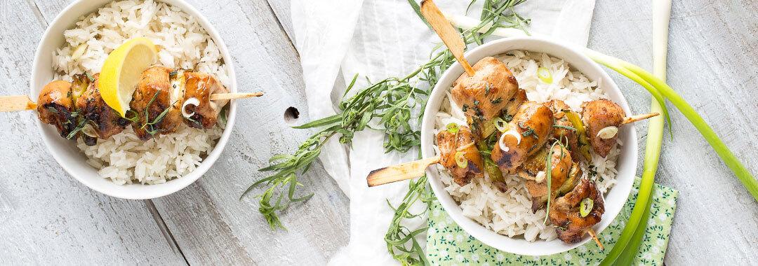recette brochettes poulet cebette sirop