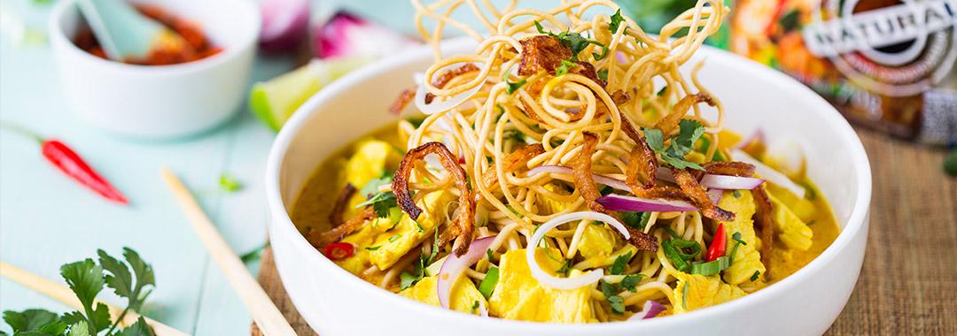 Khao Soy au curry rouge
