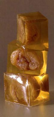 Cubes de gelée de whisky et marron confit corsiglia