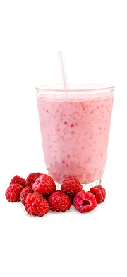 Smoothie framboise, fruits rouges et romarin