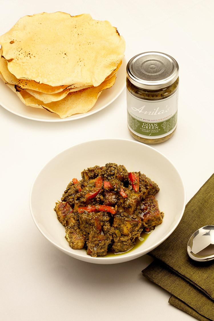 Curry vert de légumes