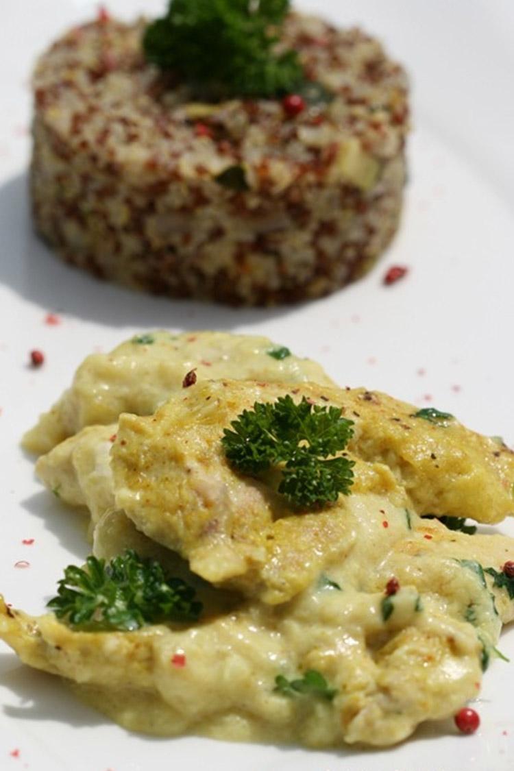 Poulet épicé aux 2 quinoas