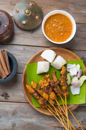 Brochettes Satay de poulet