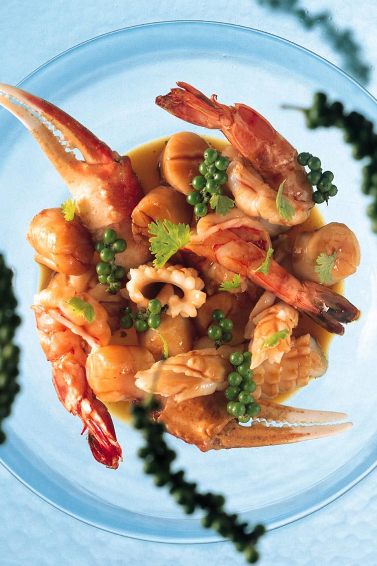 Crevettes sautées au poivre noir Thai