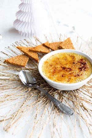Crème brulée au foie gras et toasts de pain d'épices