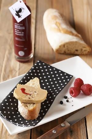 Foie gras aux baies de tasmanie