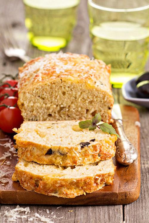 Cake au Quinoa et aux olives