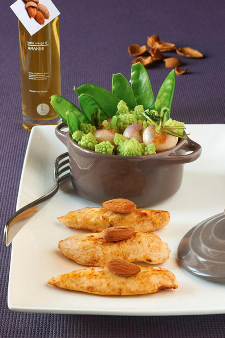 Aiguillettes de poulet et leur cocotte de légumes de saison