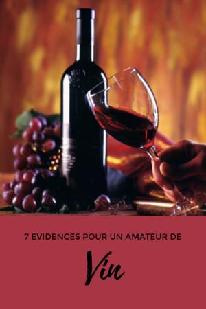 7 évidences pour un amateur de vin