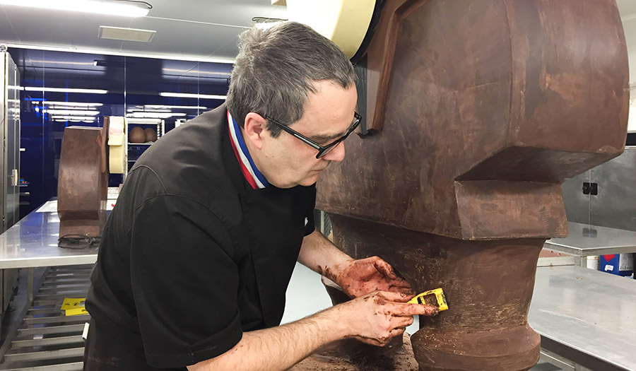 chocolat fabrice gillotte sculpture