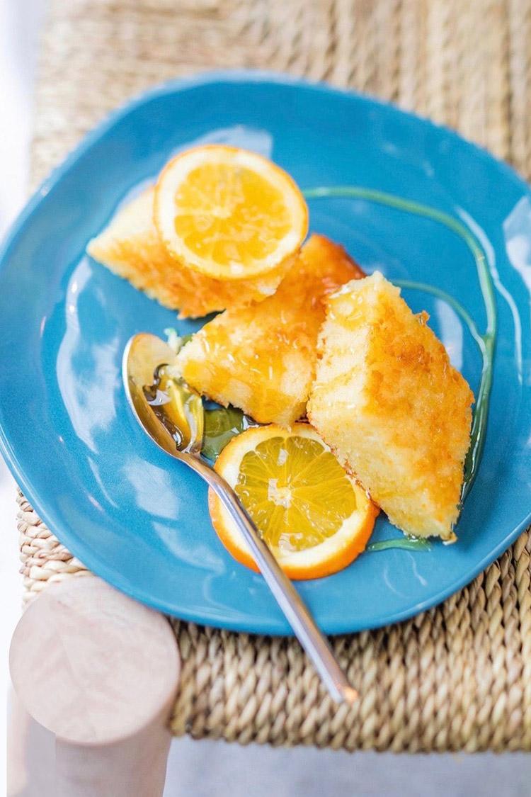 Portokalopita, gâteau à l'orange du Péloponnèse