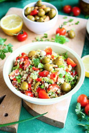 Taboulé aux olives vertes