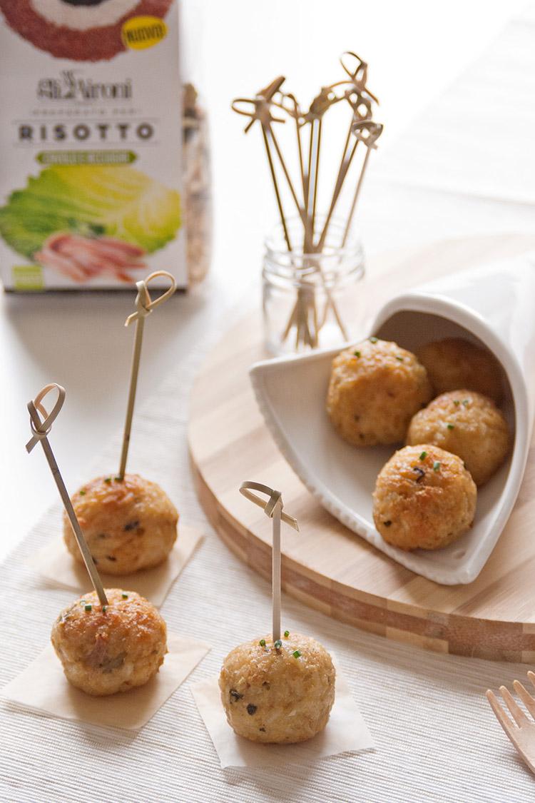 Petites boulettes au safran et au risotto