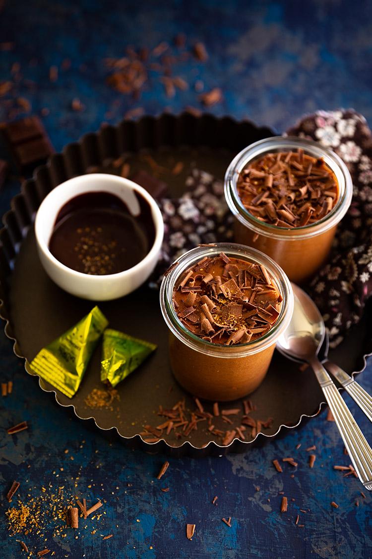 Mousse au chocolat à la coriandre