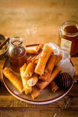 Cigares aux amandes et au miel de sapin